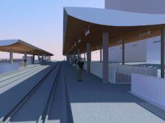 So sollen die Perrondächer beim zukünftigen Bahnhof Mattenhof aussehen